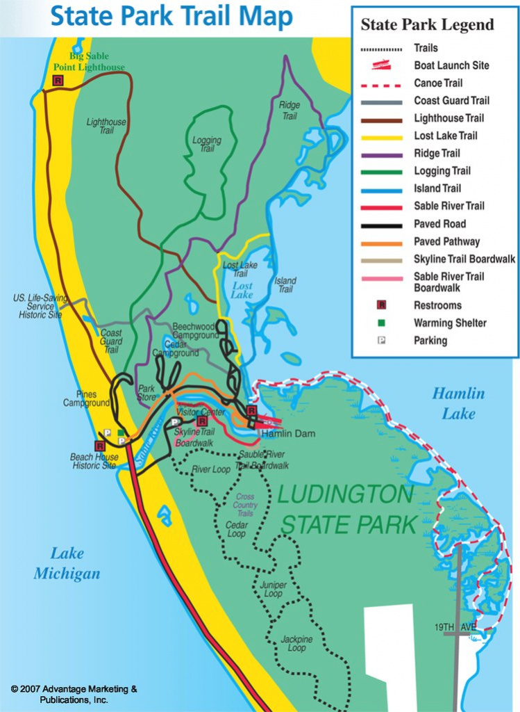 Ludington State Park - Maplets for Ludington State Park Trail Map
