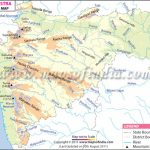 Maharashtra Physical Map Intended For Physical Map Of Maharashtra State