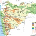 Maharashtra Topography Map For Physical Map Of Maharashtra State