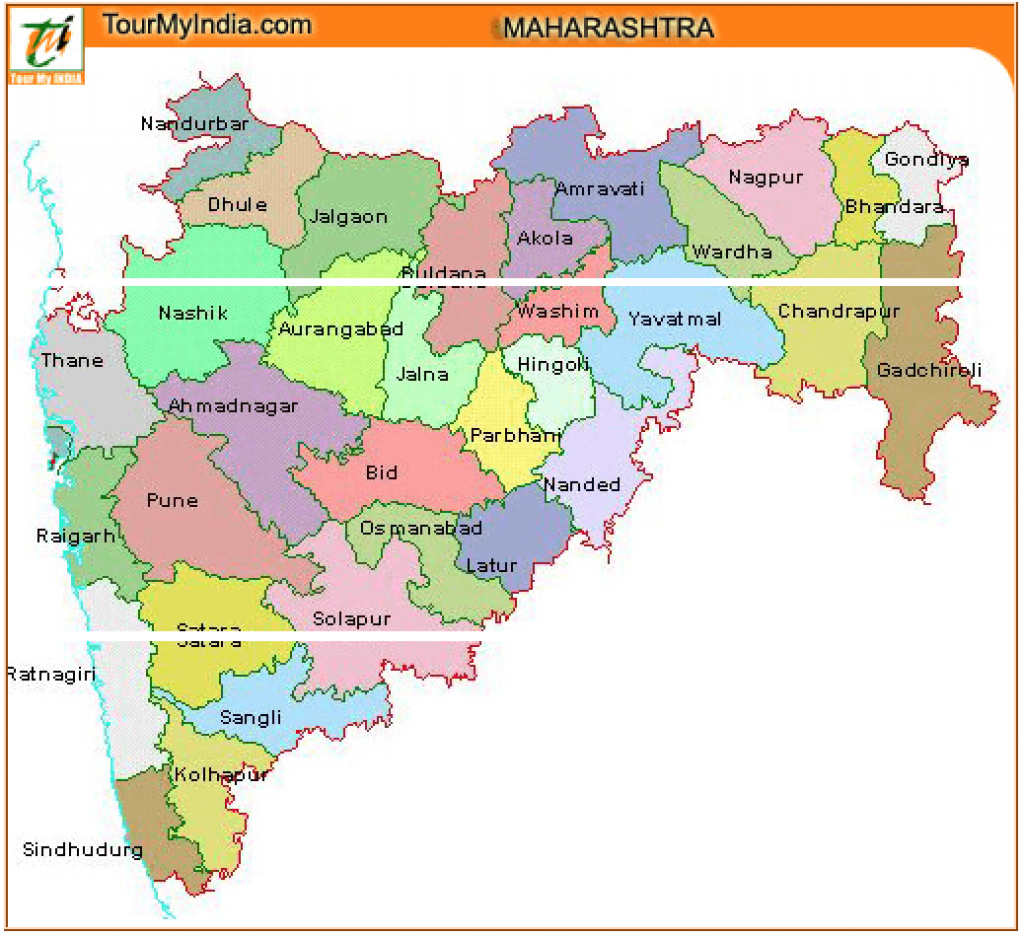 Maharashtra Tourism Map For Travelers - Maharashtra Travel Information in Physical Map Of Maharashtra State