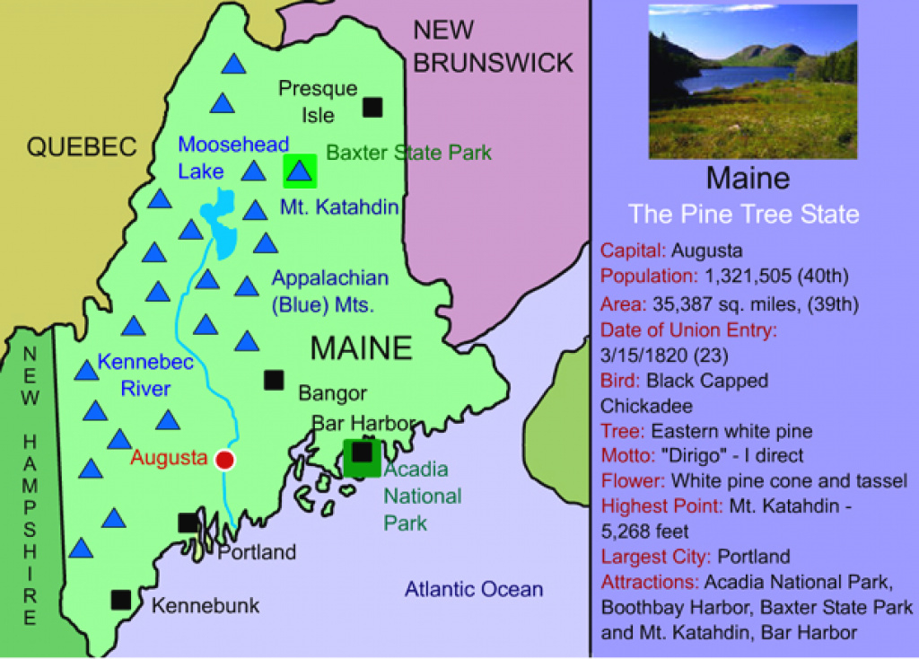 Maine For Kids: Maps | Facts | Activities « for State Map For Kids