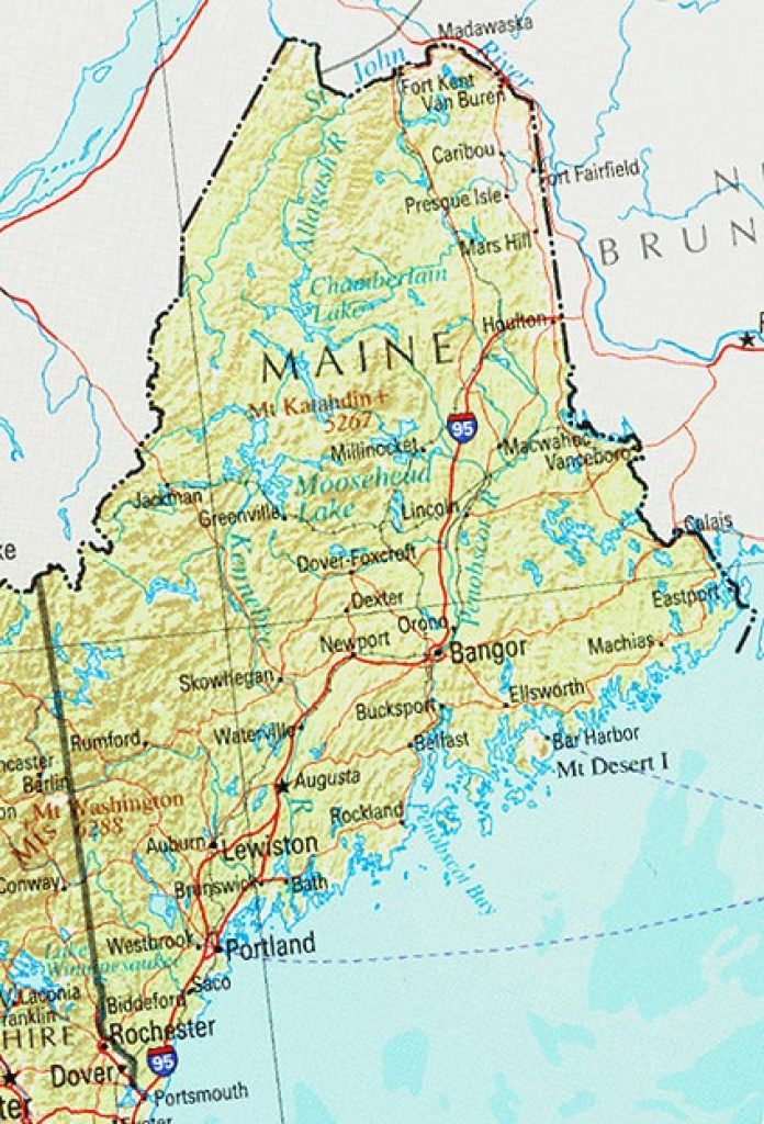 Maine Maps - Perry-Castañeda Map Collection - Ut Library Online pertaining to Maine State Map Printable