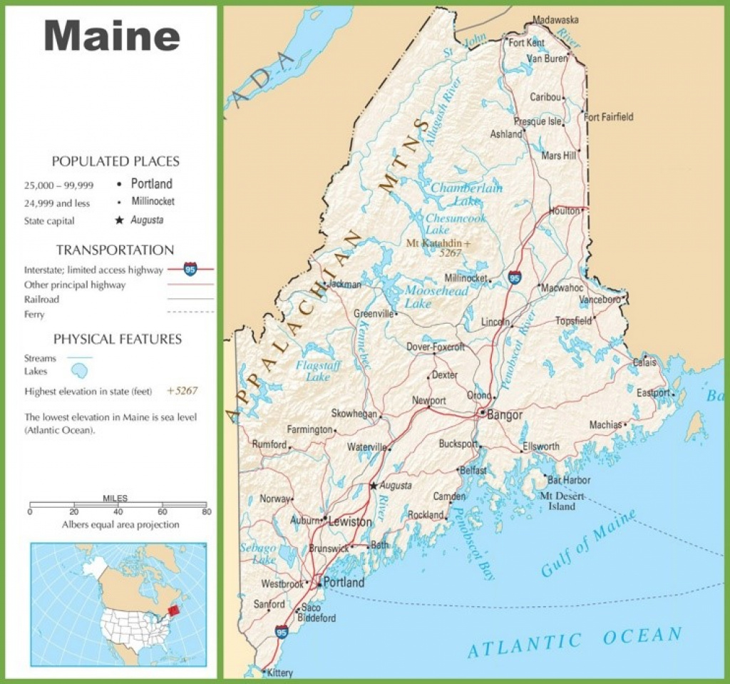Maine State Maps | Usa | Maps Of Maine (Me) throughout Maine State Map Printable