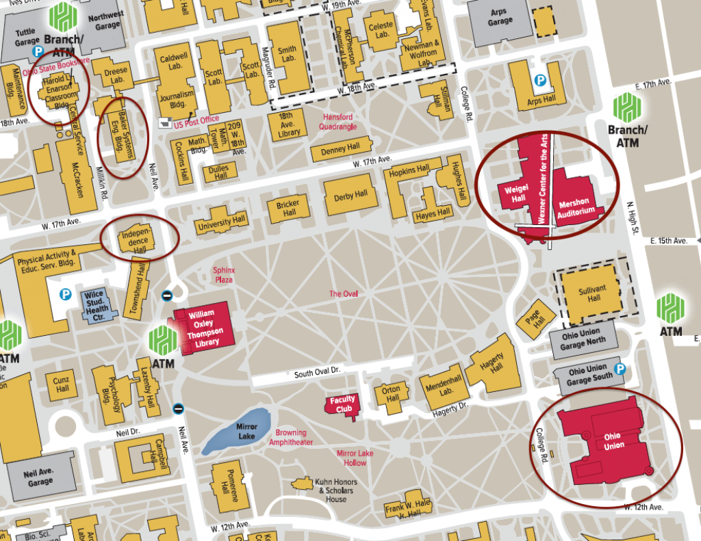 Map And Directions - Ucat regarding Ohio State Parking Map