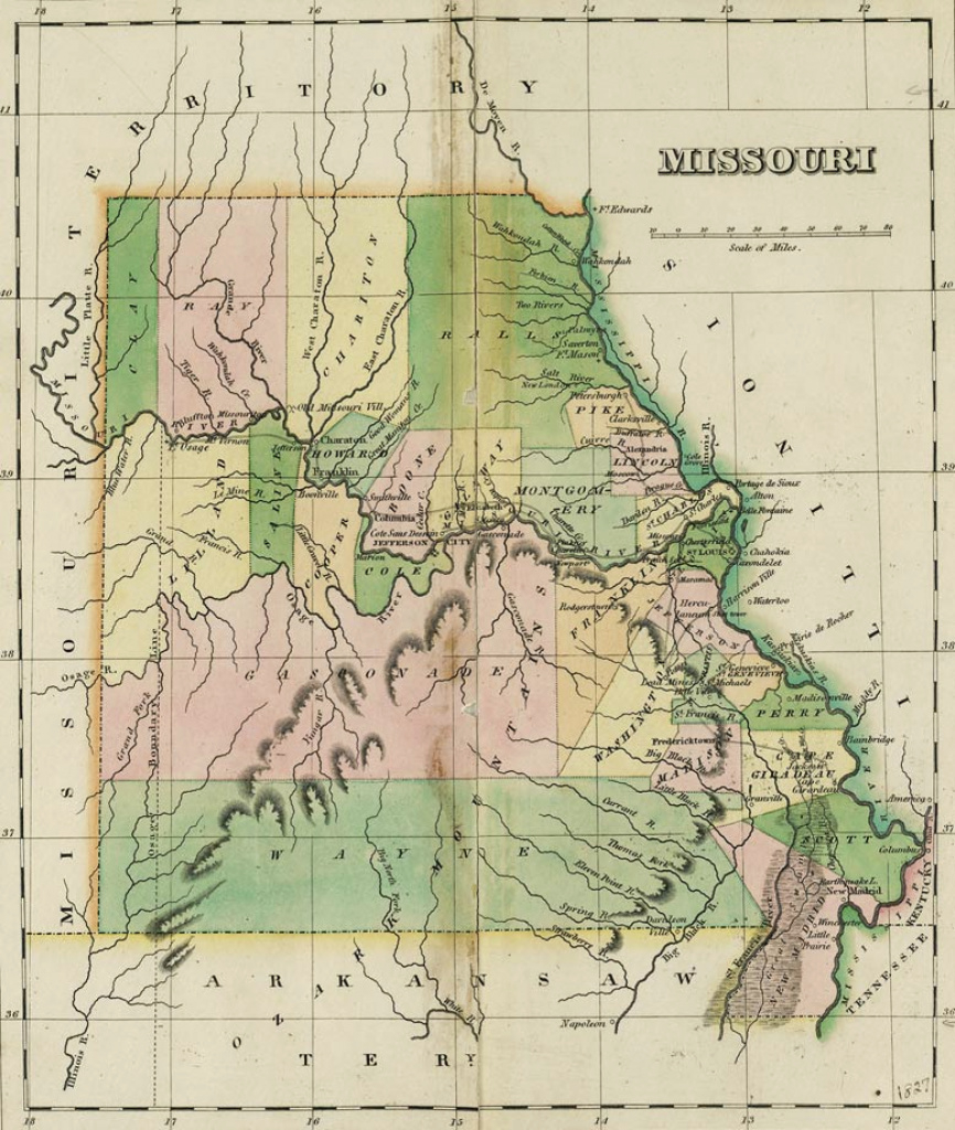 Map Collection - The State Historical Society Of Missouri with State Reference Map Missouri
