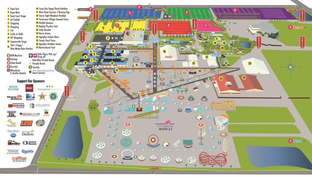 Map. Florida State Fair Map.florida State Fair Map With Florida inside New York State Fairgrounds Map
