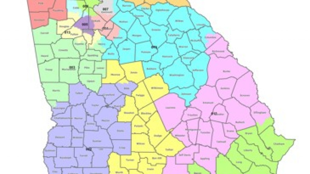 Map: Georgia's Congressional Districts in Georgia State Senate District Map