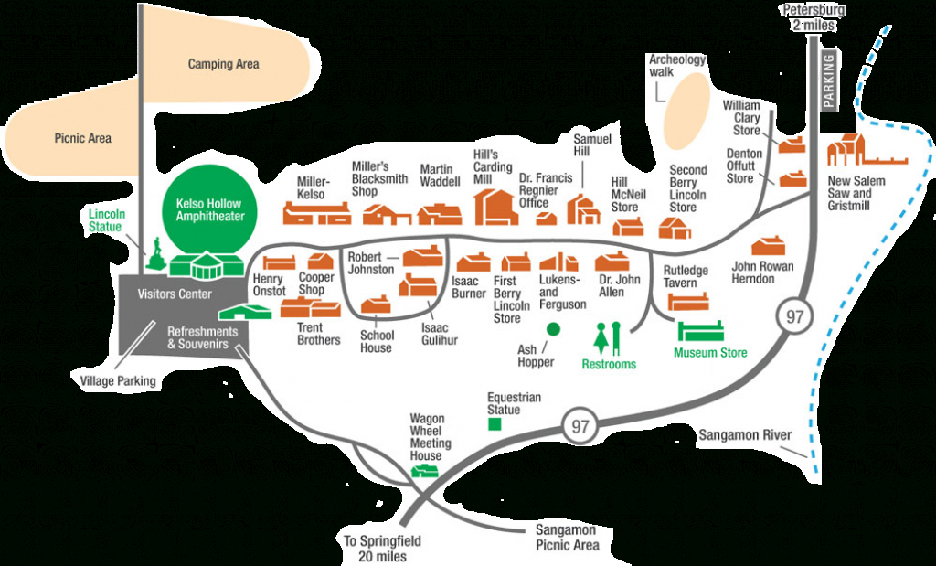 Map - New Salem Lincoln League regarding Illinois State Campgrounds Map