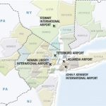 Map New York Airports And Travel Information | Download Free Map New Inside New York State Airports Map