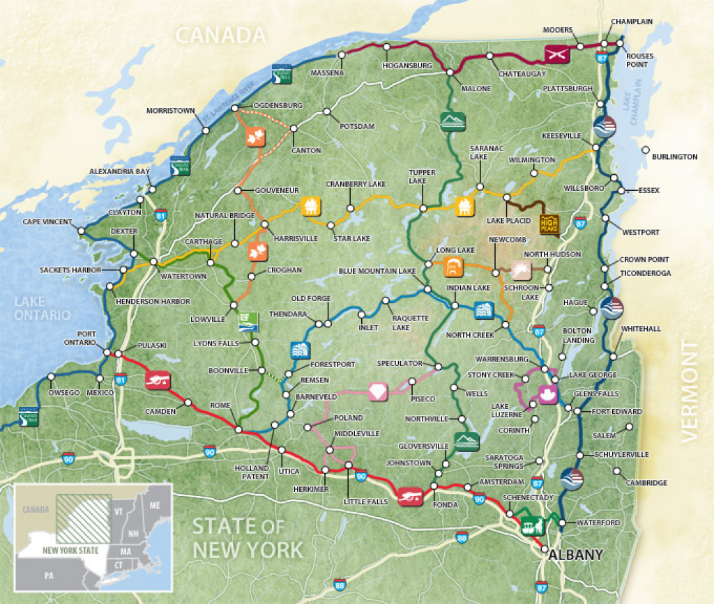 Map Of 15 Scenic Byways within Map Of Northern Ny State