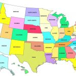 Map Of 50 States With Names And Capitals   Etiforum With 50 States Map With Names