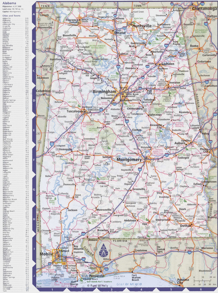 Map Of Alabama With Cities And Towns regarding Alabama State Railroad Map