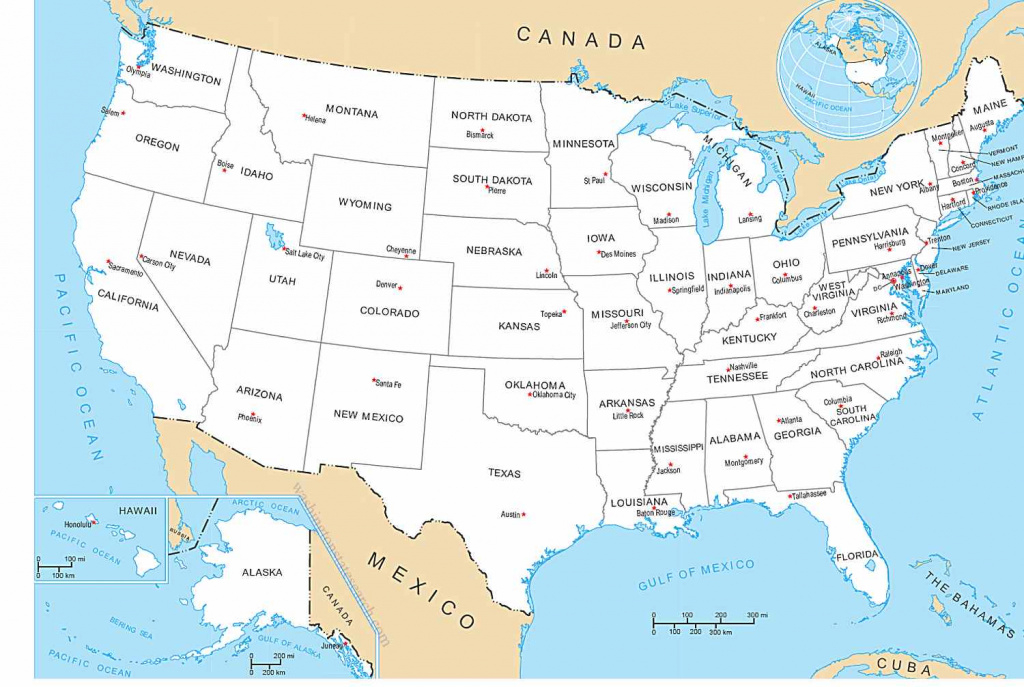 Map Of America States And Capitals And Travel Information | Download intended for The 50 State Capitals Map