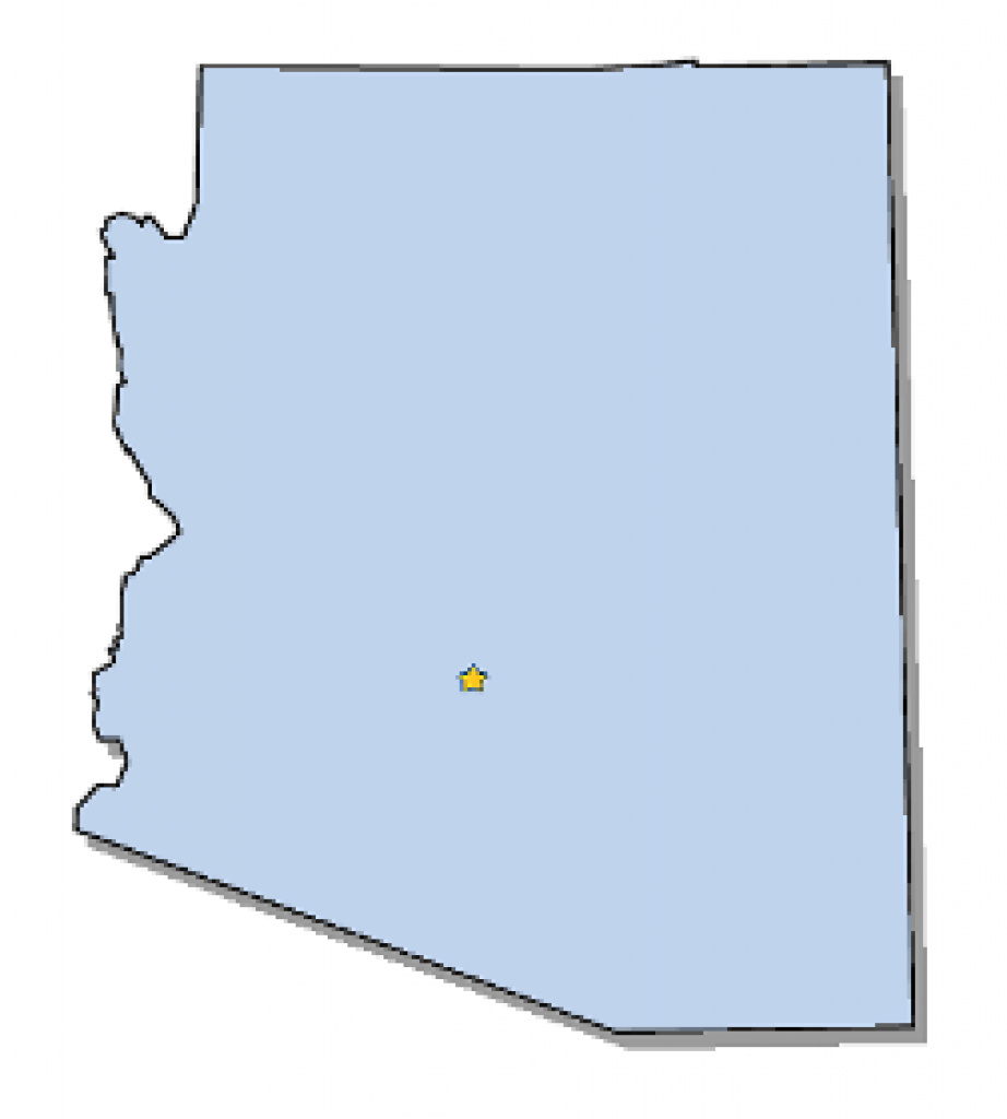 Map Of Arizona And County Map *** throughout Arizona State Map Outline