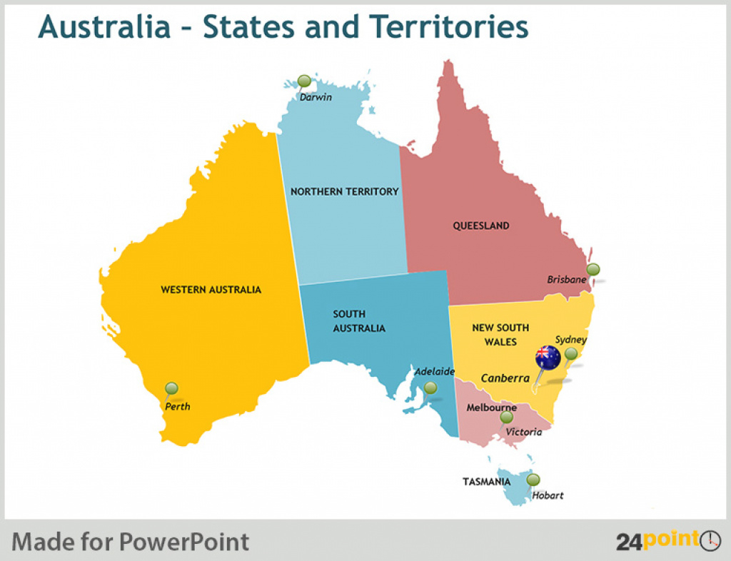 Map Of Australia And New Zealand: States And Major Cities Editable in Map Of Australia With States And Major Cities