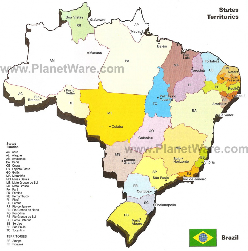 Map Of Brazil States & Major Citites | Planetware pertaining to Map Of Brazil States And Cities