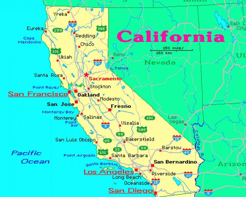 Map Of California Image Gallery Website Map Of California And for California Map With States