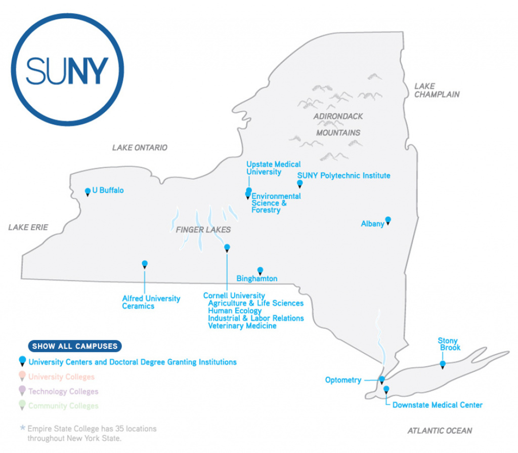 Map Of Campuses - Suny regarding State University Of New York Map