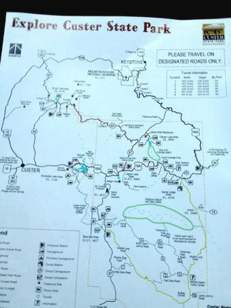 Map Of Custer State Park - Picture Of Custer State Park Campgrounds for Custer State Park Map