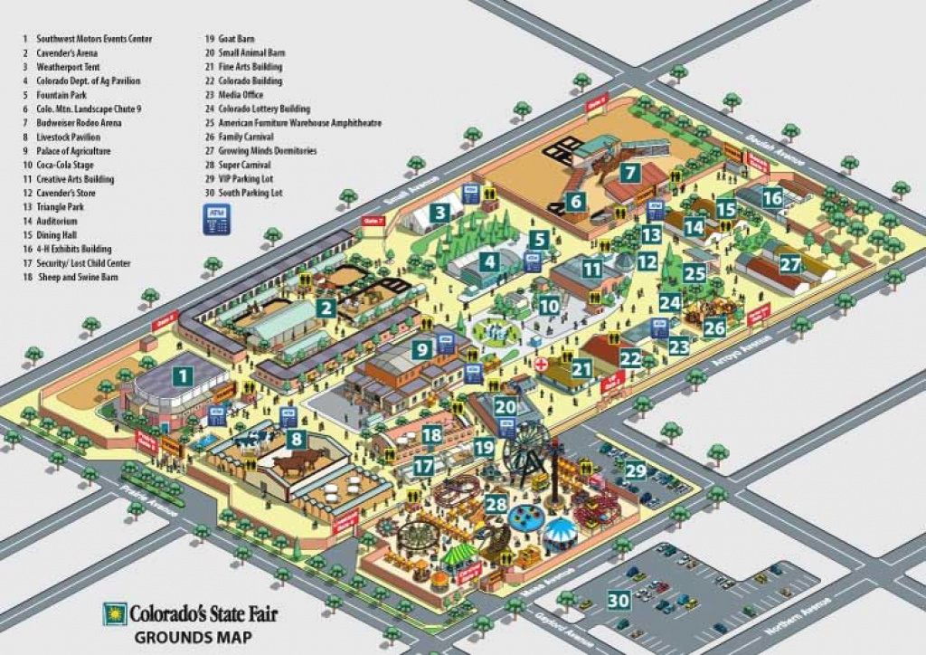 Map Of Fairgrounds for State Fairgrounds Map