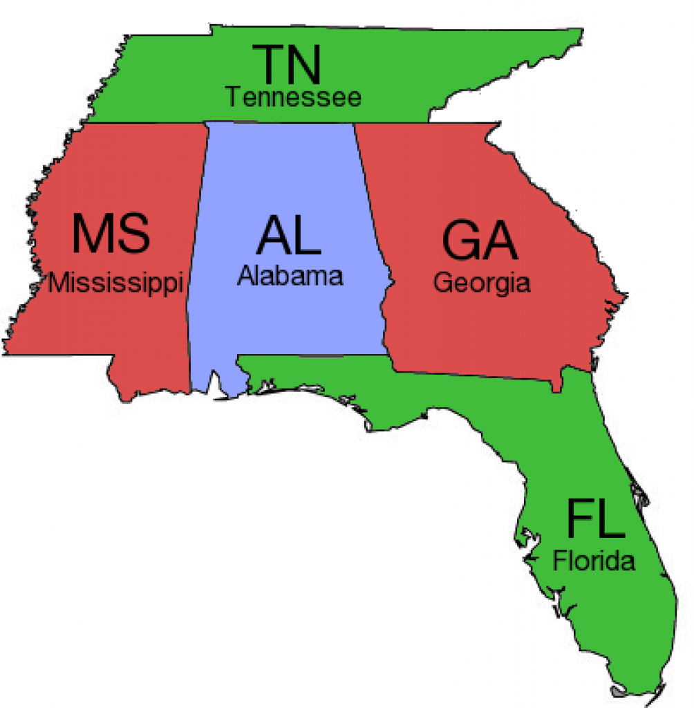 Map Of Florida And Surrounding States And Travel Information pertaining to Map Of Georgia And Surrounding States