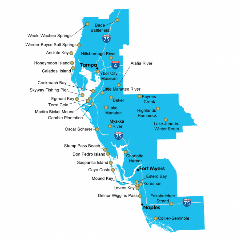 Map Of Florida Springs Florida State Parks Map Florida State Parks with regard to Florida State Parks Map