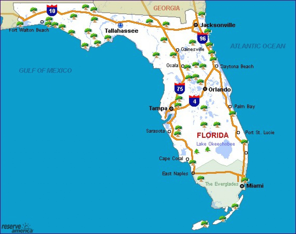 Map Of Florida State Parks Camping - Wiring Diagrams • in Florida State Parks Camping Map