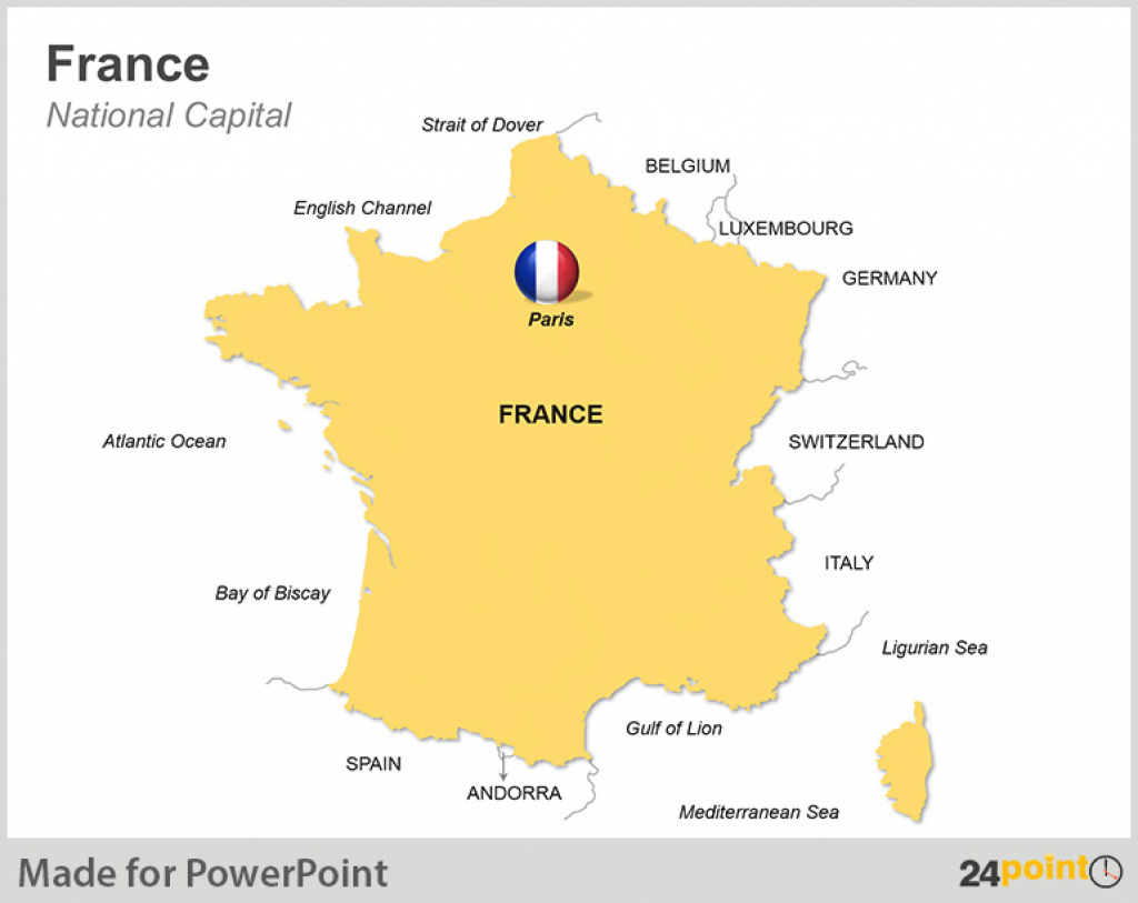 Map Of France And Its Territories Powerpoint Slides - Powerpoint within France States Map