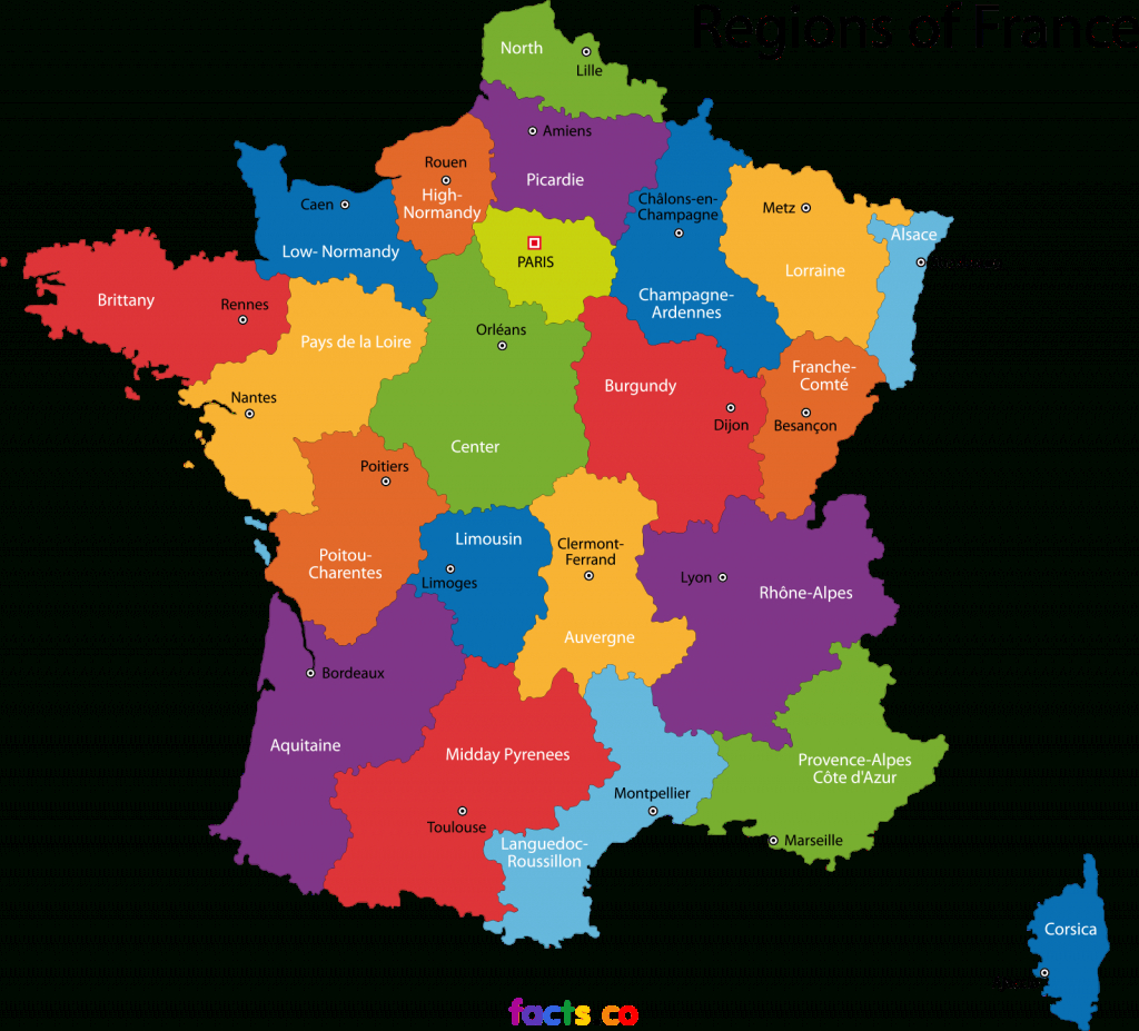Map Of France With States | Wonderfulcreation pertaining to France States Map