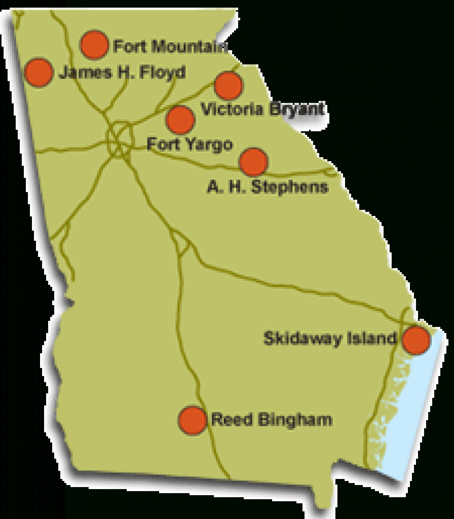 Map Of Georgia State Parks – Bnhspine with Georgia State Parks Map
