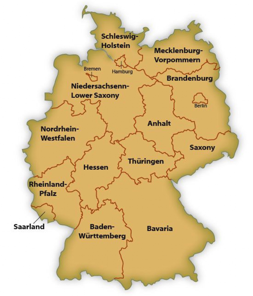 Map Of German States with Interactive Visited States Map