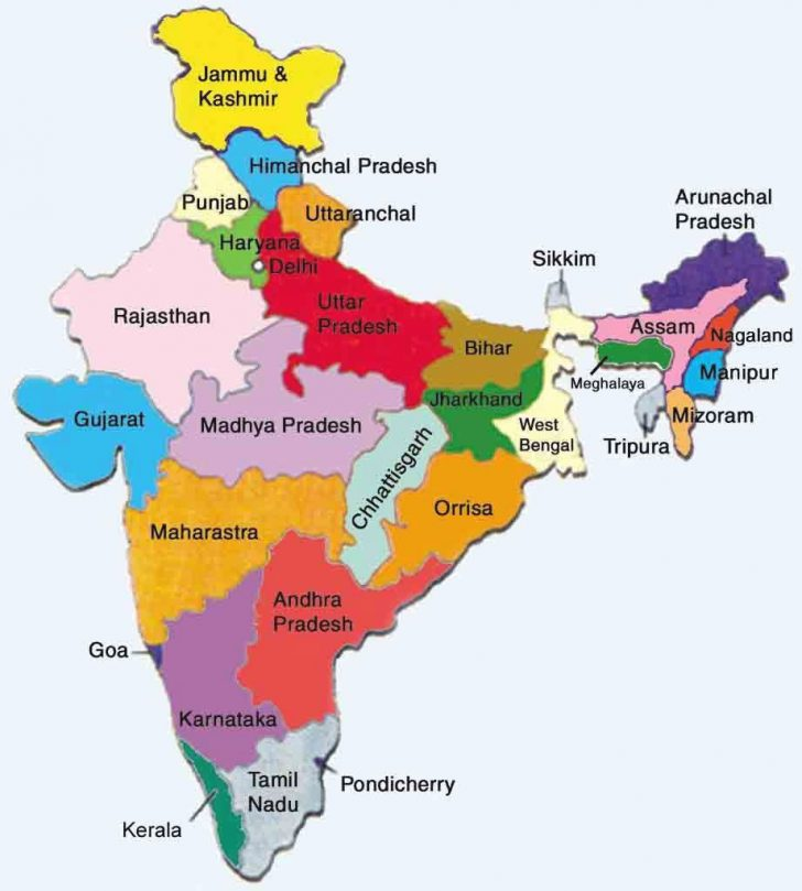 Google Map Of India With States