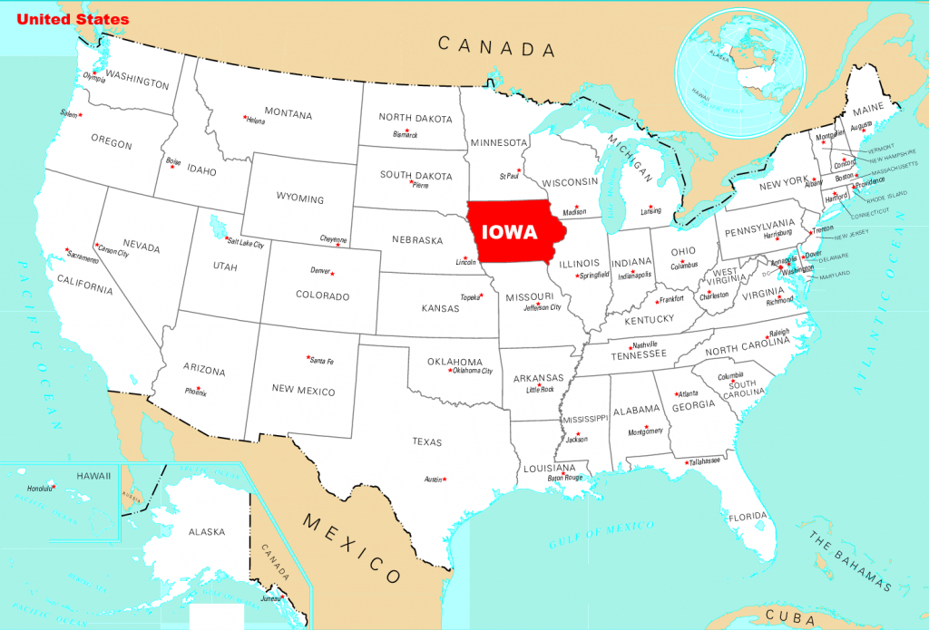 Map Of Iowa | State Map Of Usa | United States Maps in Map Of The Whole United States
