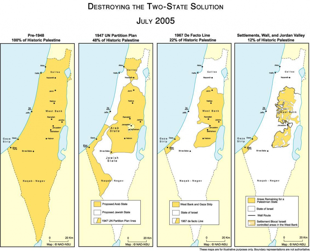 Map Of Israel And Palestine for Palestine Two State Solution Map