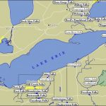 Map Of Lake Erie Waterfalls Inside Map Lake Erie Surrounding States