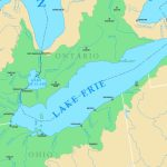 Map Of Lake Erie With Cities And Rivers Pertaining To Map Lake Erie Surrounding States