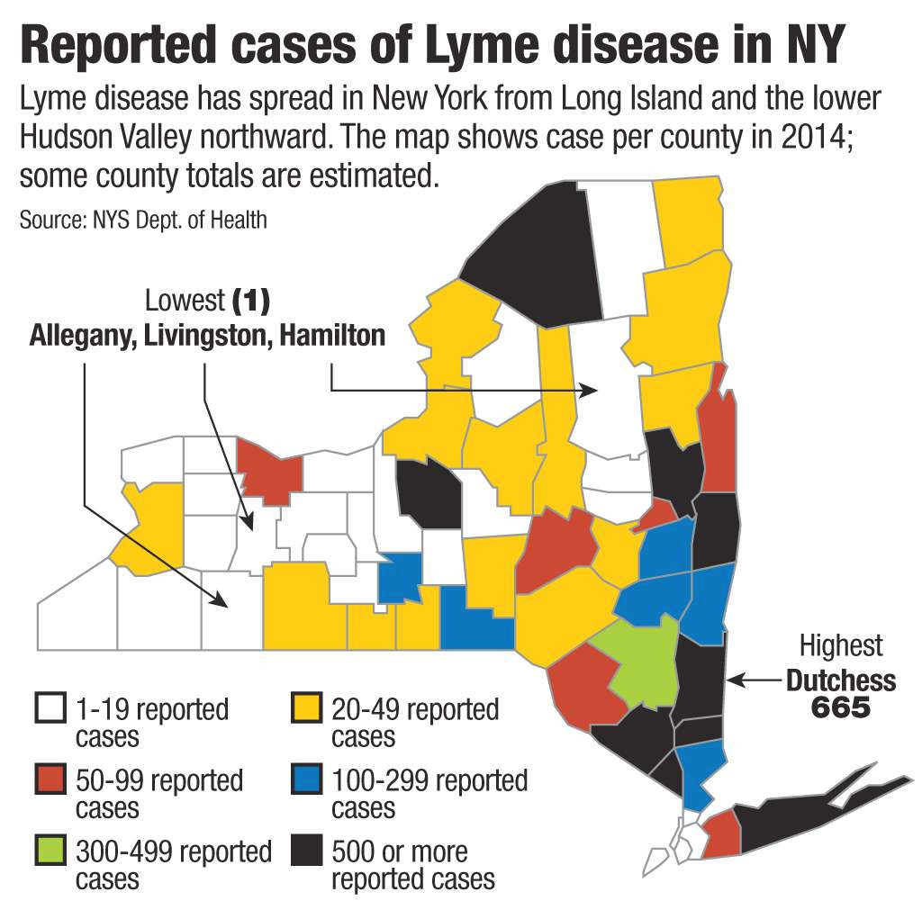 Map Of Lyme Disease In Us within Lyme Disease New York State Map