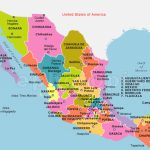 Map Of Mexico And Its States – Adamhunter Intended For Map Of Mexico And Its States