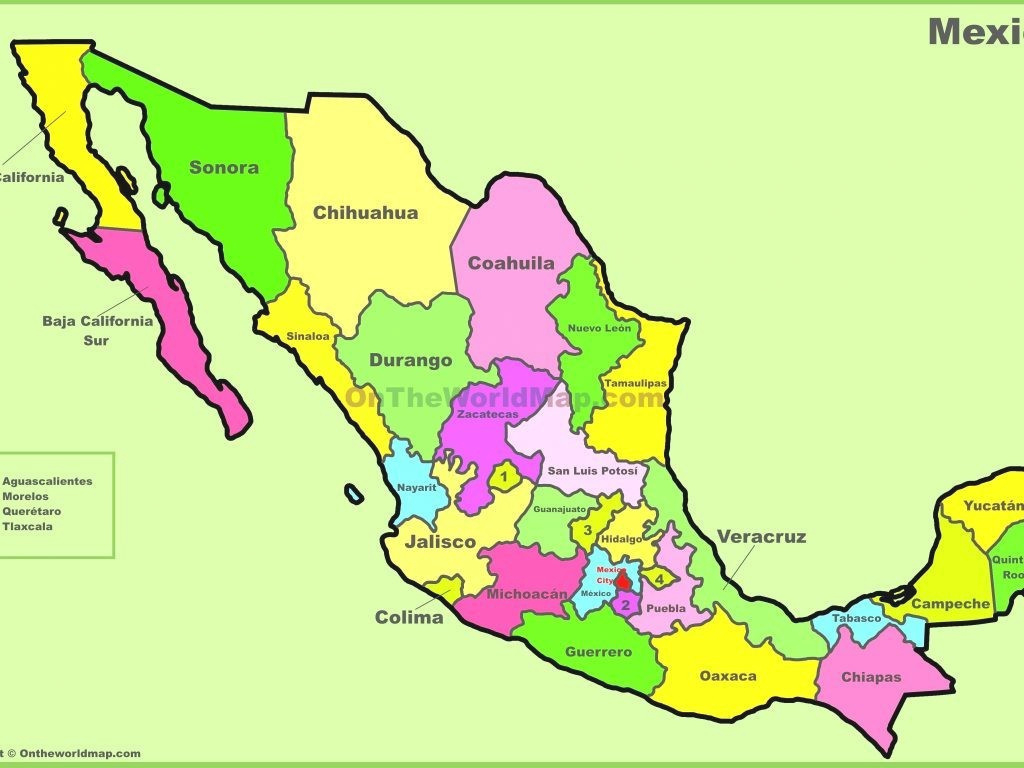 Map Of Mexico And Its States - Mercnet with regard to Map Of Mexico And Its States