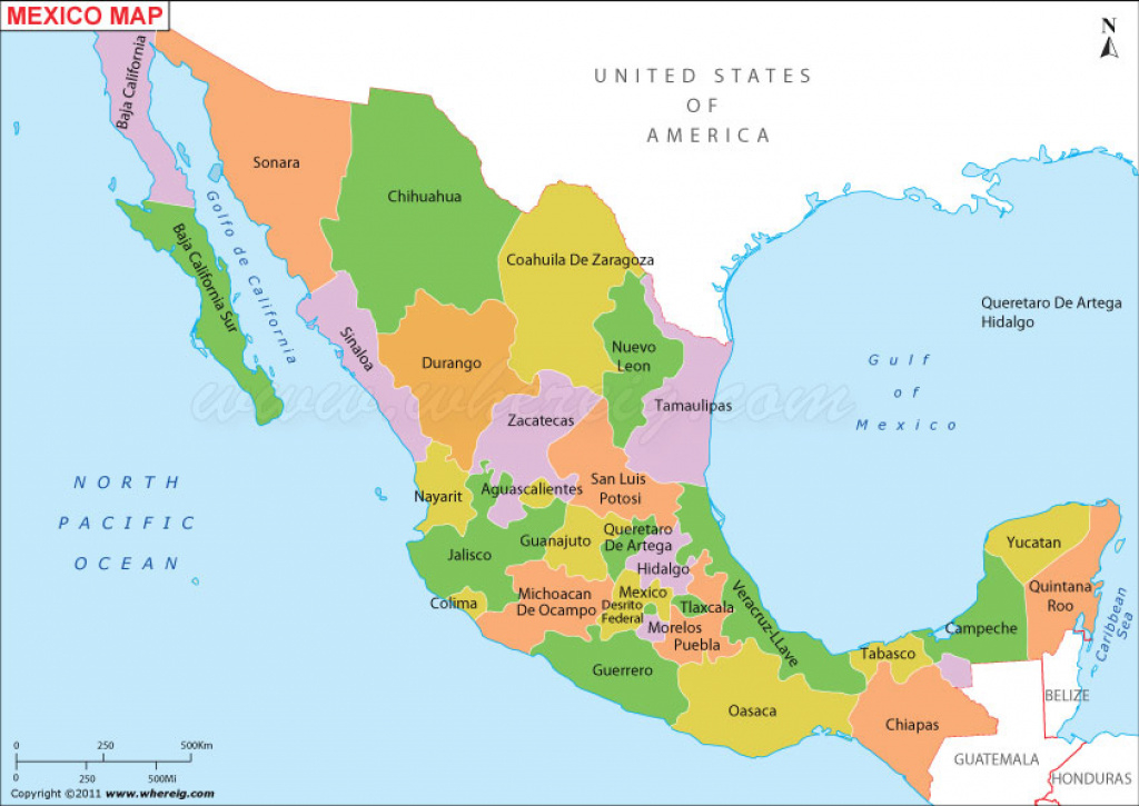 Map Of Mexico States And Capitals And Travel Information | Download pertaining to Map Of Mexico And Its States