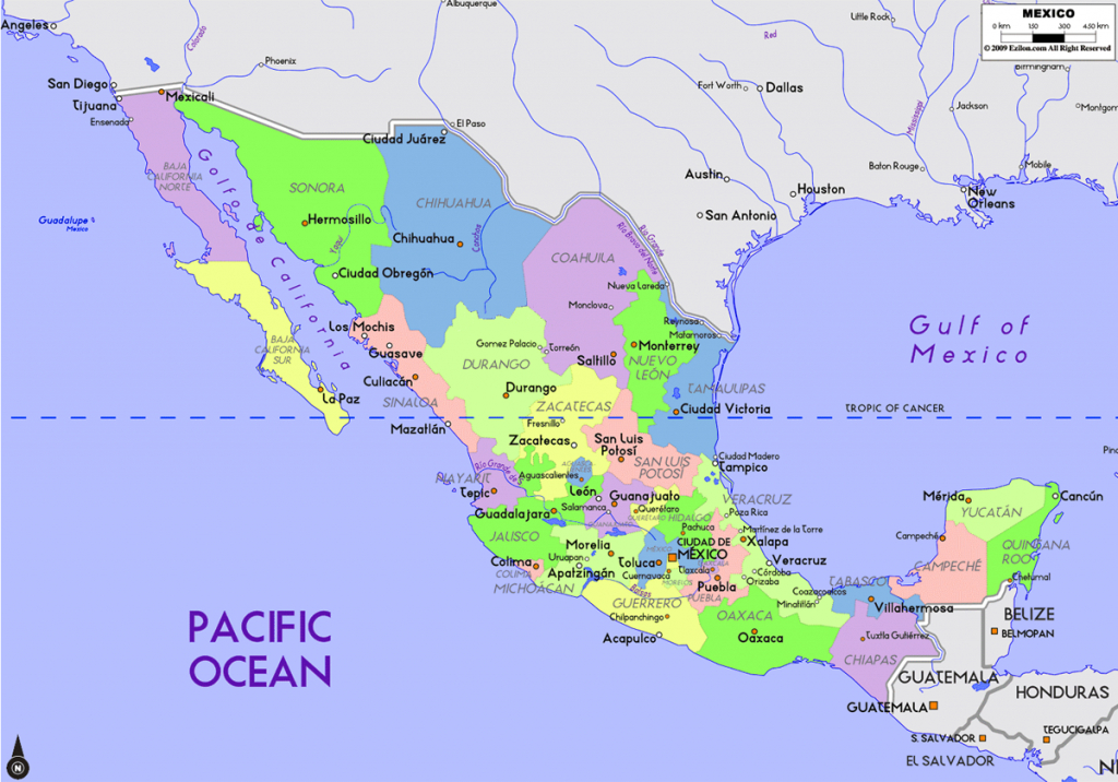 Map Of Mexico States And Capitals • Mapsof with regard to Map Of Mexico And Its States