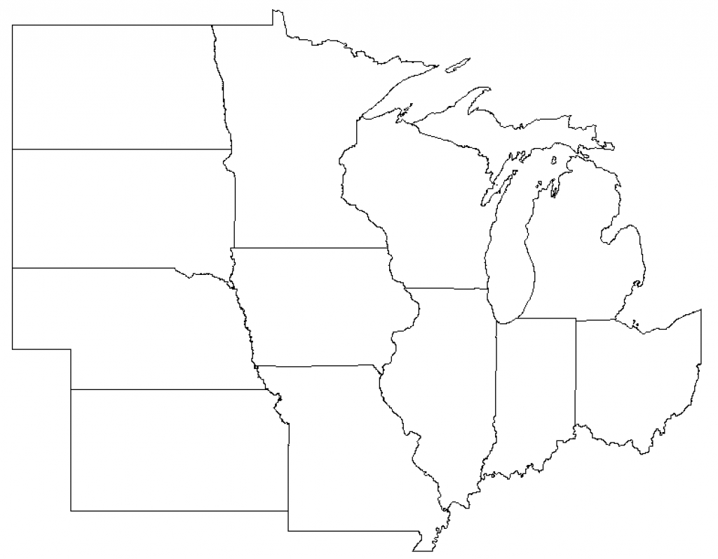 Map Of Midwest Region And Travel Information | Download Free Map Of intended for Blank Map Of Midwest States