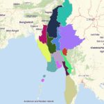 Map Of Myanmar States And Regions   Mapline Pertaining To Map Of Myanmar States And Regions