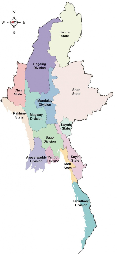 Map Of Myanmar States : Rakhine State, Like Many Parts Of Burma, Has with Map Of Myanmar States And Regions
