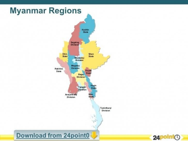 Map Of Myanmar States And Regions