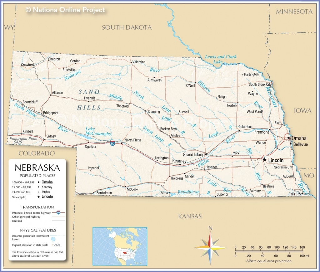 Map Of Nebraska And Surrounding States – Map Of Usa District throughout Map Of Nebraska And Surrounding States