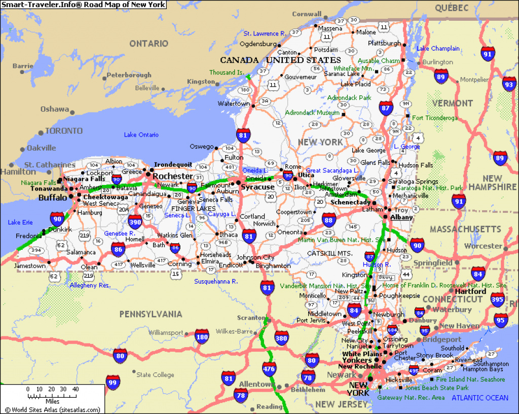 Map Of New York And Pennsylvania | Afputra within Road Map Of New York State And Pennsylvania