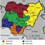 Map Of Nigeria Showing The 6 Geo Political Zones, 36 St | Open I Pertaining To Map Of Nigeria With States