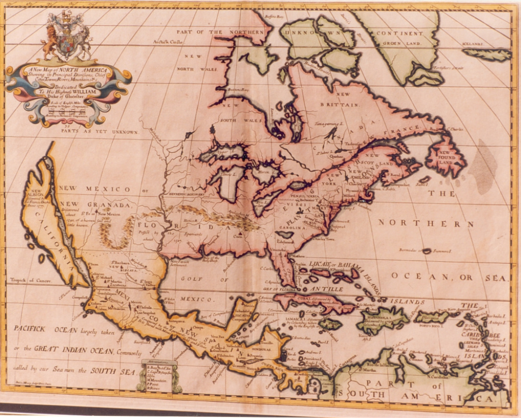 Map Of North America , 1700 :: :: Vallejo Demo for 1700 Map Of The United States