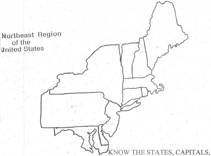 Northeast States And Capitals Map